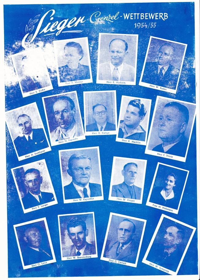 Genzel-Wettbewerb 1954/1955