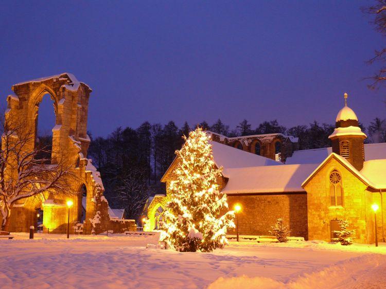 Weihnachtsstimmung am Kloster Walkenried