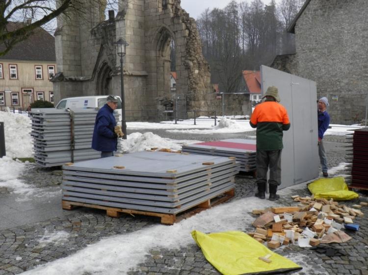 Aufbau Weihnachtsmarkt 2012