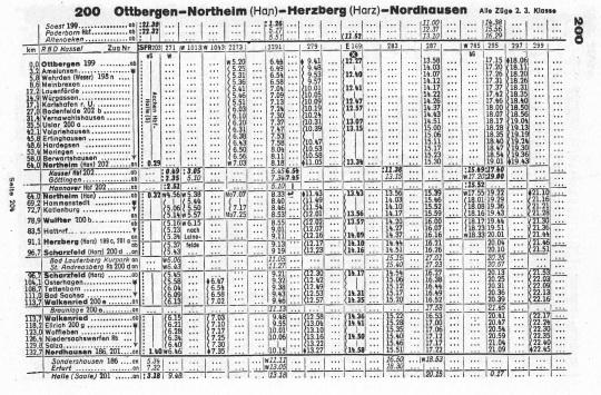 Fahrplan von 1943