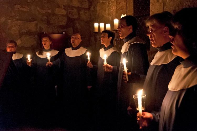 Singende Mönche