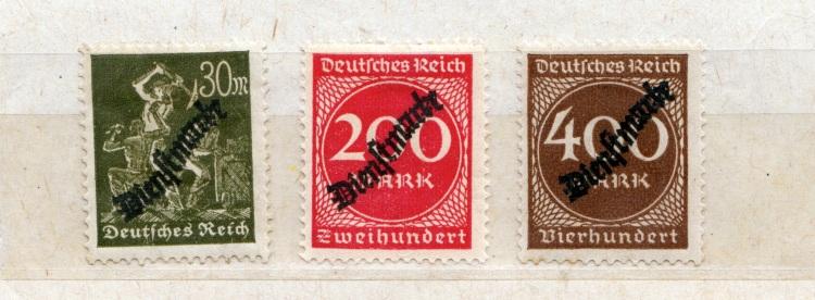 Briefmarken aus der Inflationszeit