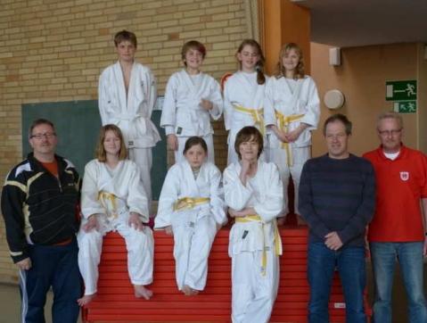 Judo-Gruppenfoto