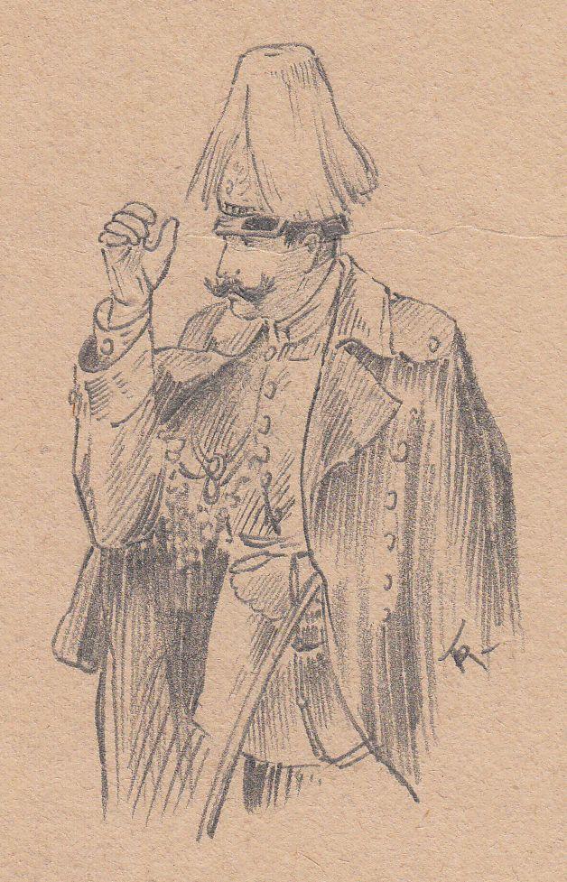 Zeichnung Kaiser Wilhelm II