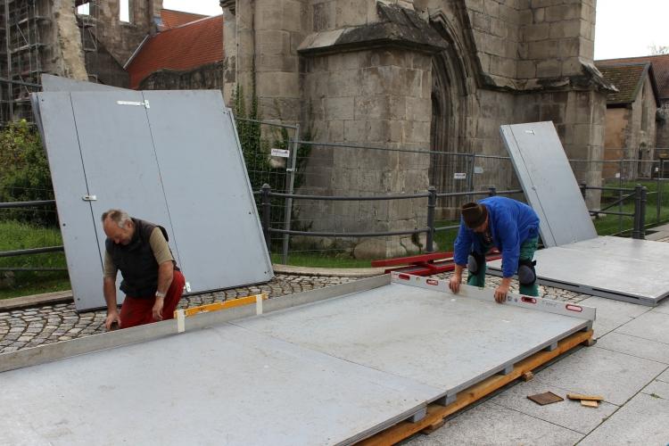 Klostermarktaufbau