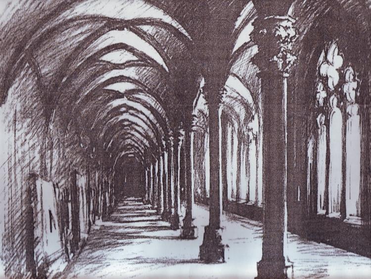 Doppelter Kreuzgang im Kloster Walkenried