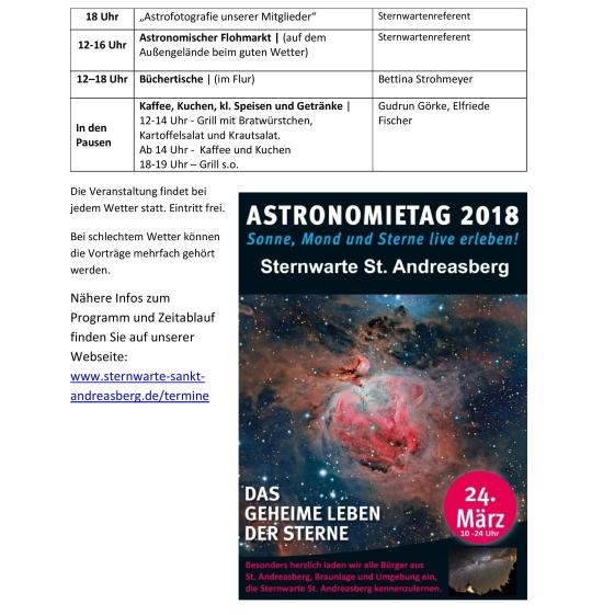 Tag der Astronomie 2018
