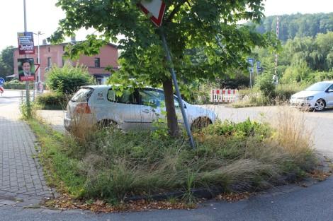 Verwahrlosung des P+R-Parkplatzes am Bahnhof Walkenried schreitetvoran